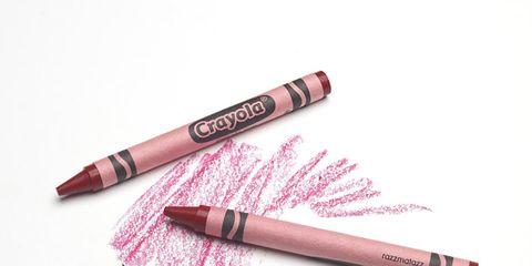 crayola razzmatazz crayon scribble on paper