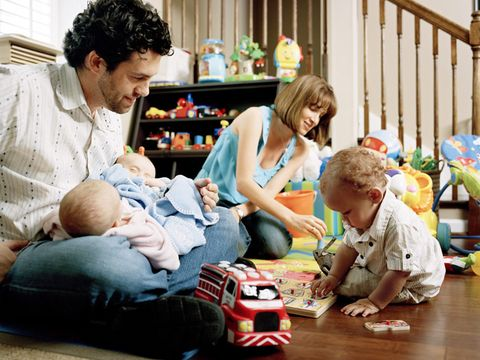 Joe and Lauren Kamnik with their three kids