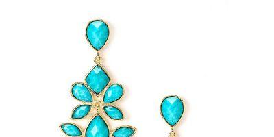 amrita turquoise chandelier earrings