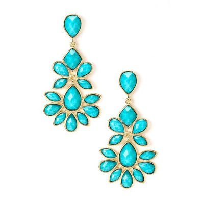 amrita turquoise chandelier earrings