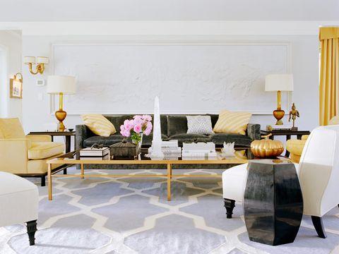 living room designed by kelly wearstler