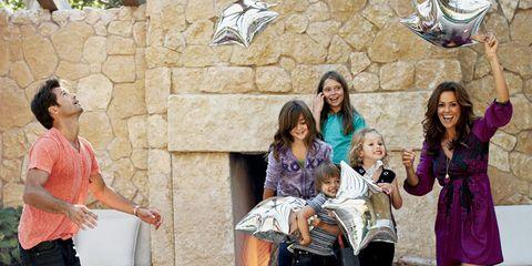 brooke burke with david charvet and her kids