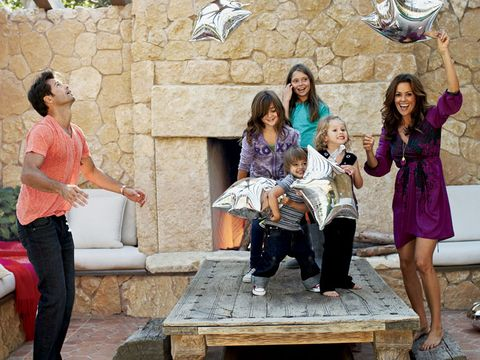 brooke burke with david charvet and her kids