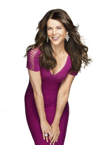 lauren graham in purple dress