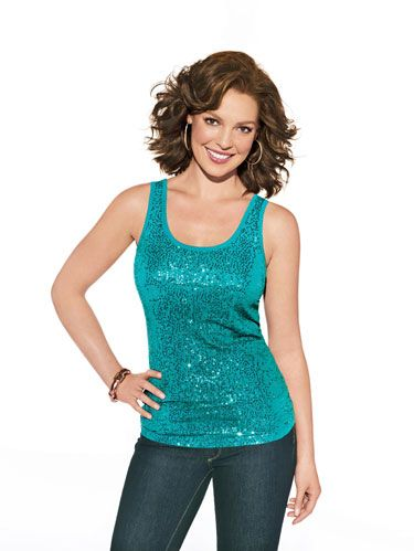 katherine heigl in sparkly tank top