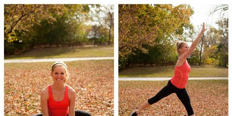 woman doing workout move