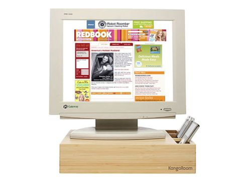 bamboo computer monitor stand
