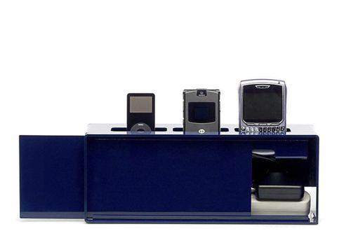 blue electronics organizer