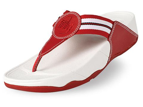 Product, Shoe, Red, White, Carmine, Maroon, Sandal, Coquelicot, Walking shoe, Costume accessory,