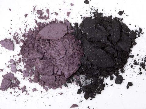 crushed purple and black eyeshadow