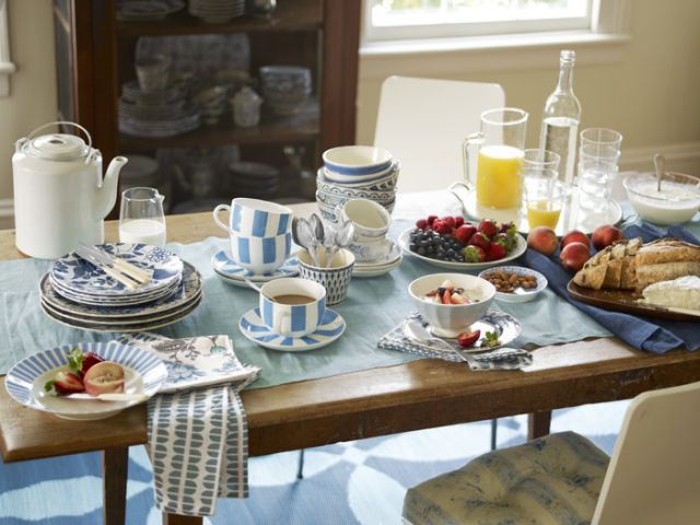 patterned dinnerware