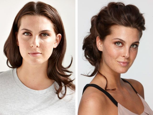 easy hair updo with tendrils