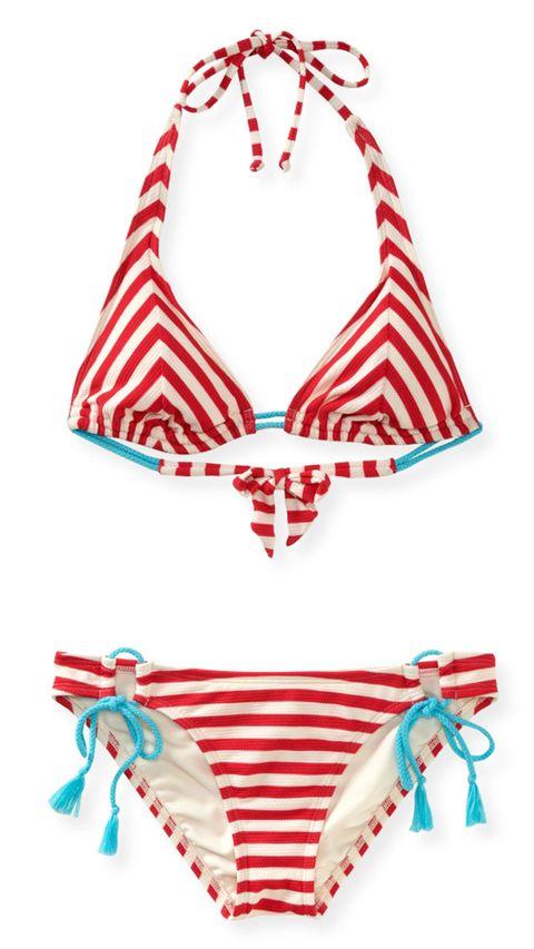 red striped bikini
