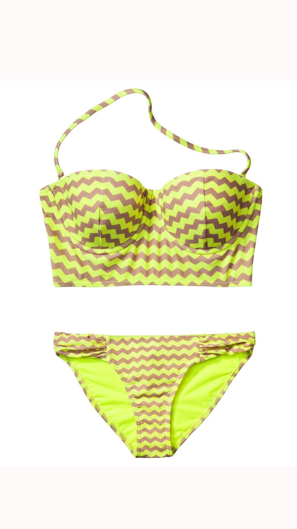 chevron printed bikini