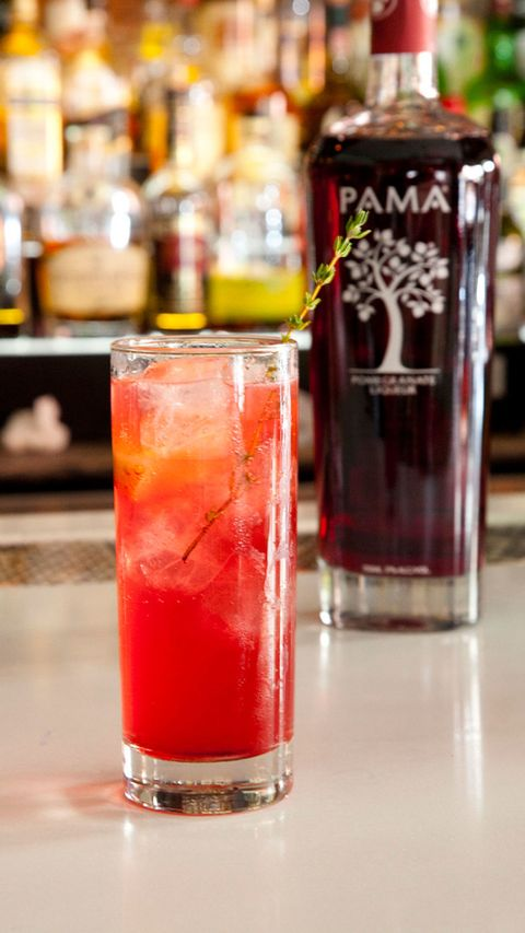 summer cocktail with PAMA