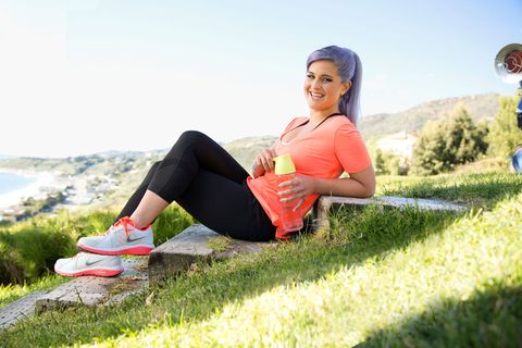 kelly osbourne yoga workout