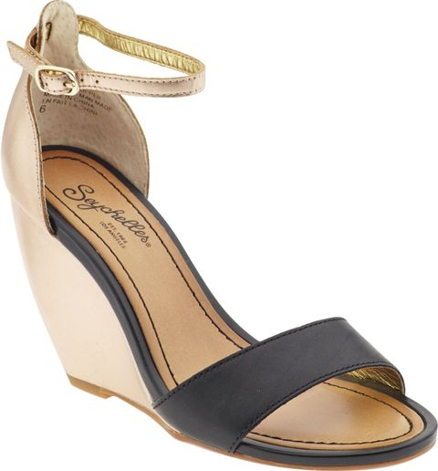 black and tan wedge sandal