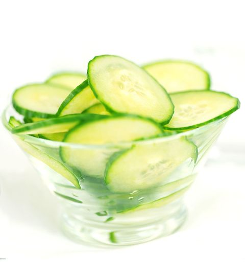 bowl of sliced cucumbers