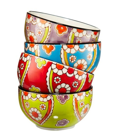 garden printed bowls