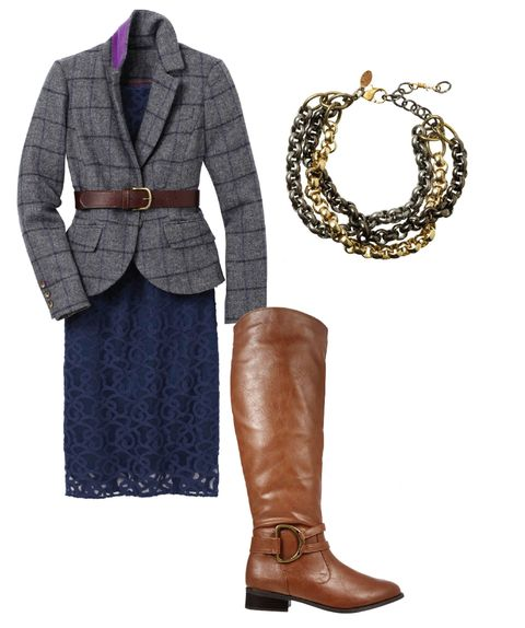 wool blazer and riding boots