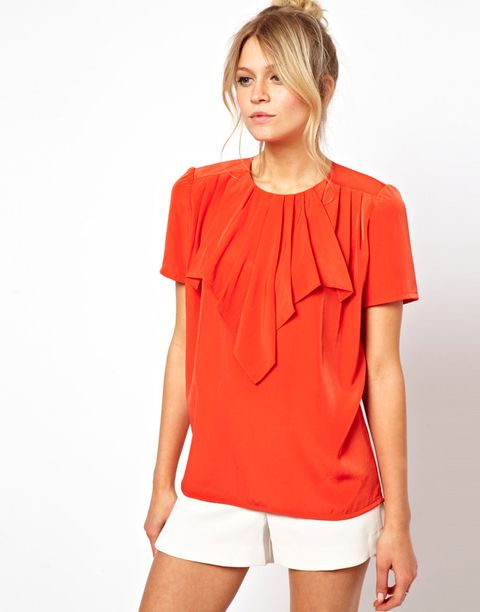 origami waterfall blouse
