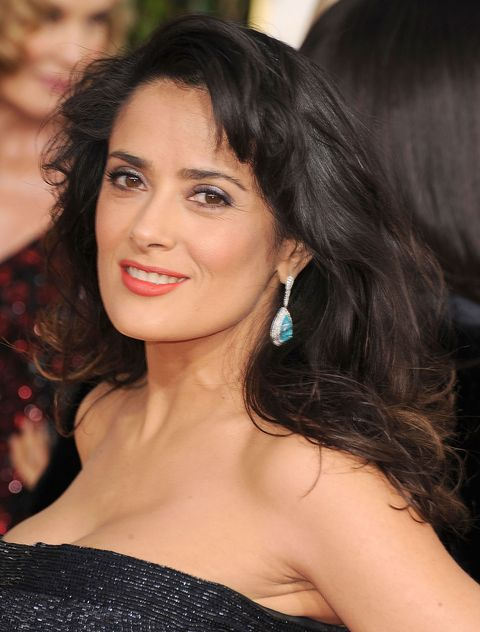 Salma Hayek with big hair