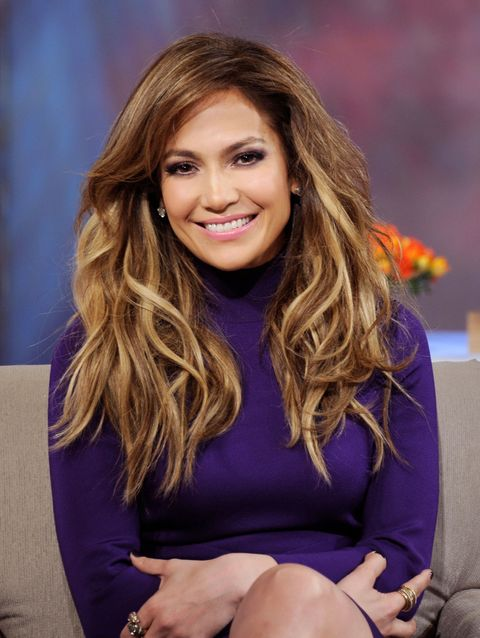 Jennifer Lopez with big hair