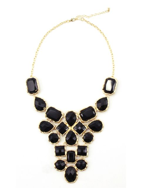 black bib necklace