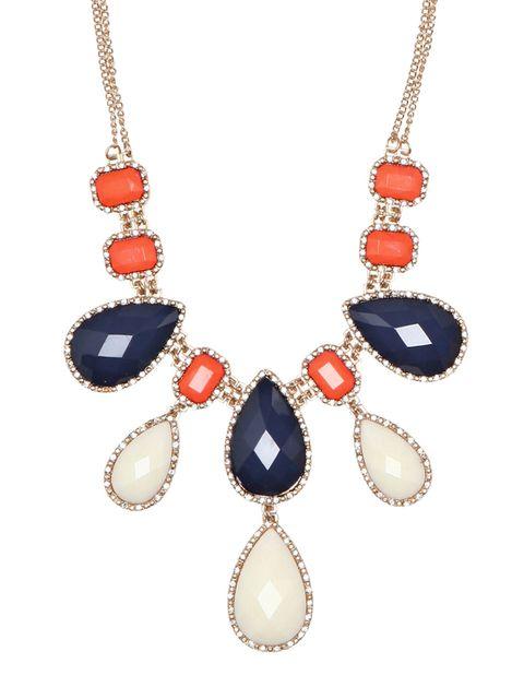 double chain bauble necklace
