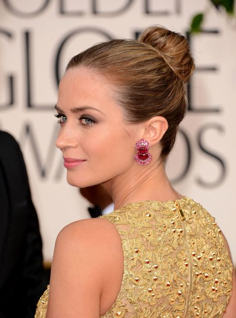 Emily Blunt, Golden Globes, Celebrity hairstyles