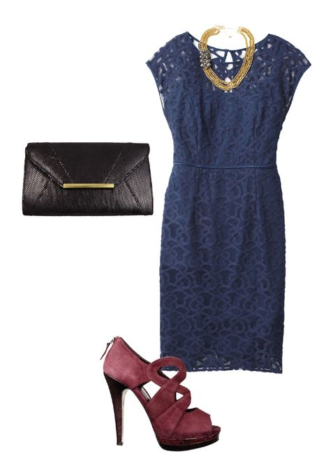 lace dress party look