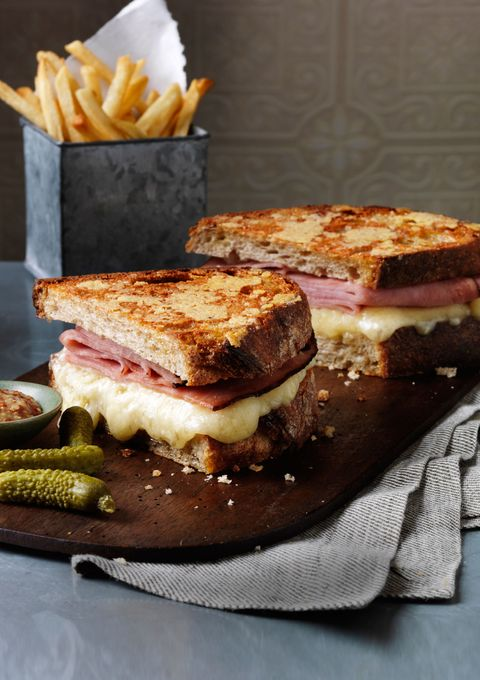Smoked ham and grilled cheese