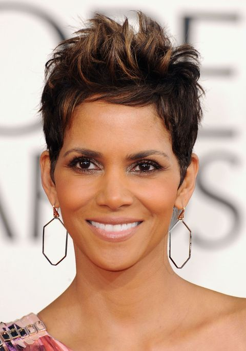 Halle Berry, Golden Globes, celebrity hairstyles
