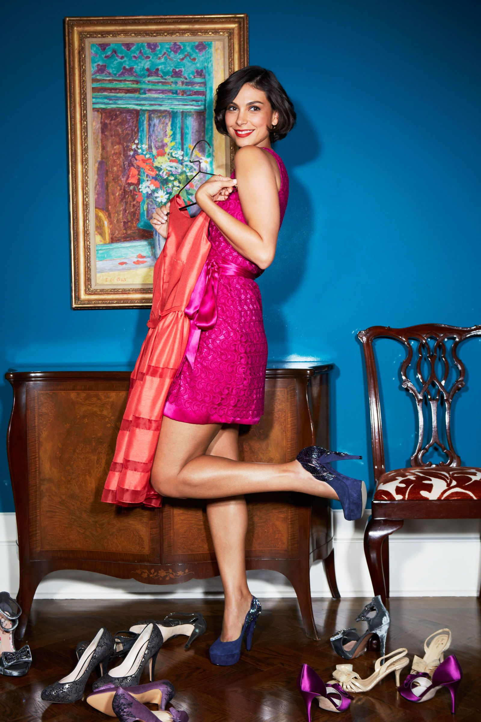 pink derbette dress