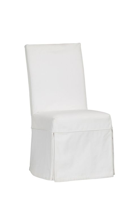 white chair with slipcover