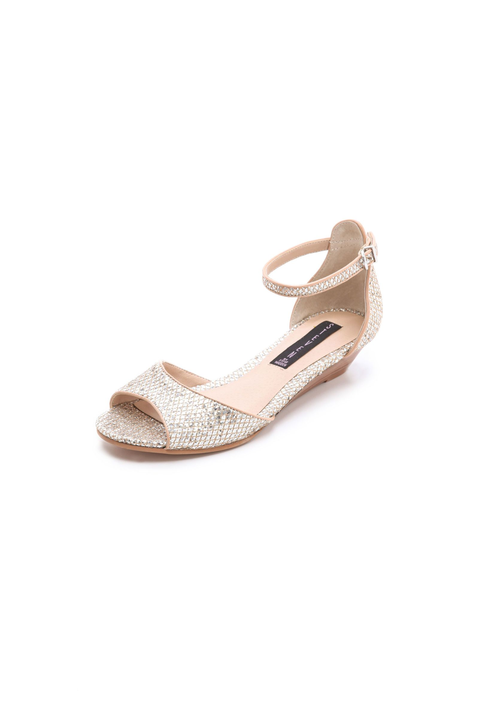sparkly silver wedge sandal