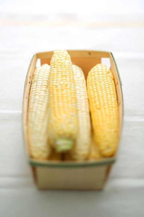 ears of corn in a basket