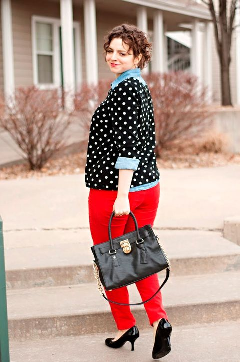 polka dots on real women