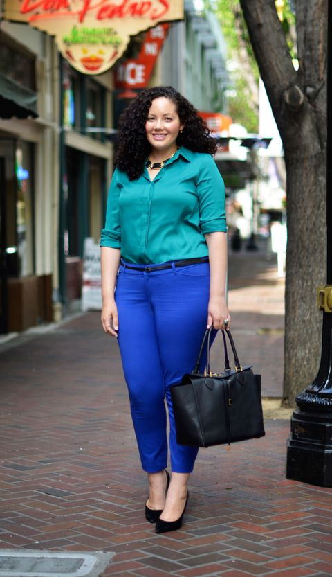 blue pants for women