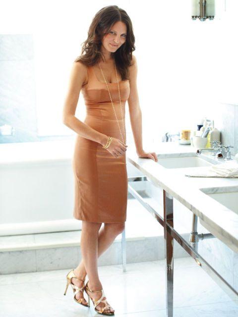 woman wearing a sexy dress