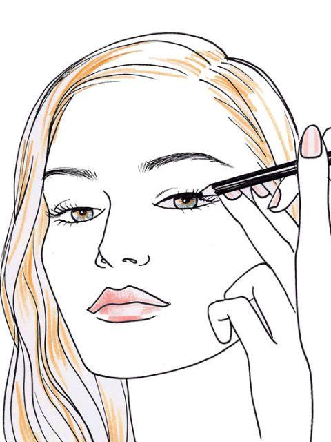 eyeliner drawing