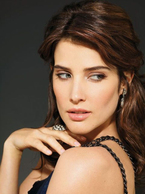 cobie smulders in sexy makeup