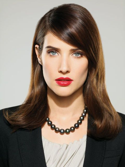 cobie smulders in confident makeup look