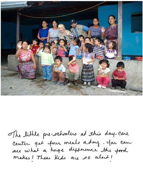 christina aguilera in a day care center with children