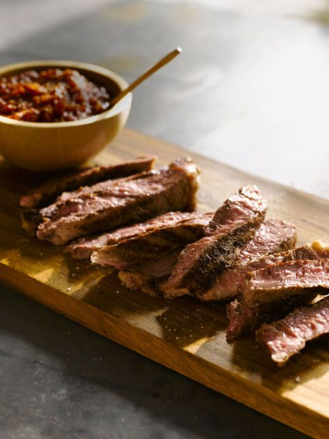 Rib-Eye Steaks with Smoky Arrabbiata Sauce recipe