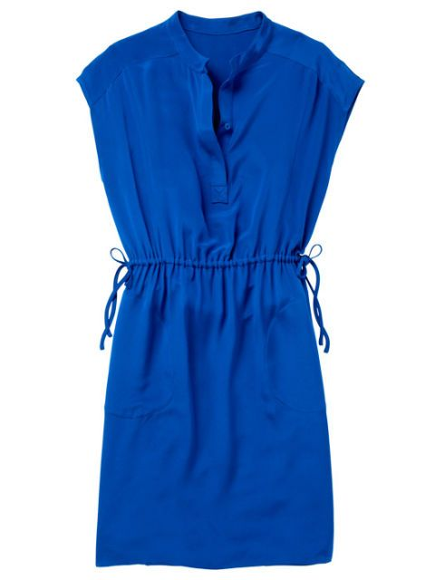 blue calvin klein tunic dress