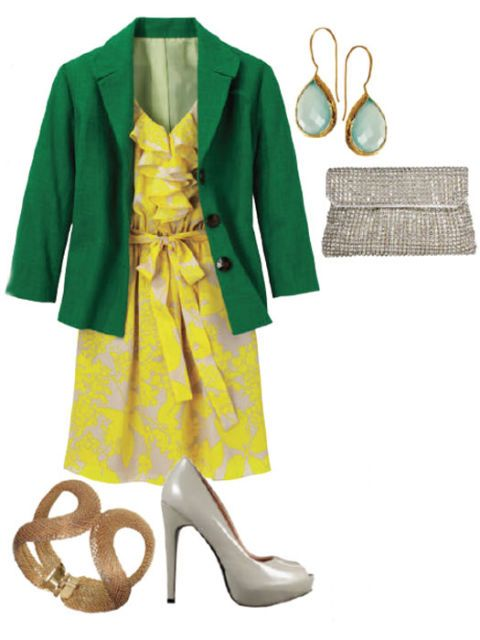green jacket outfit idea