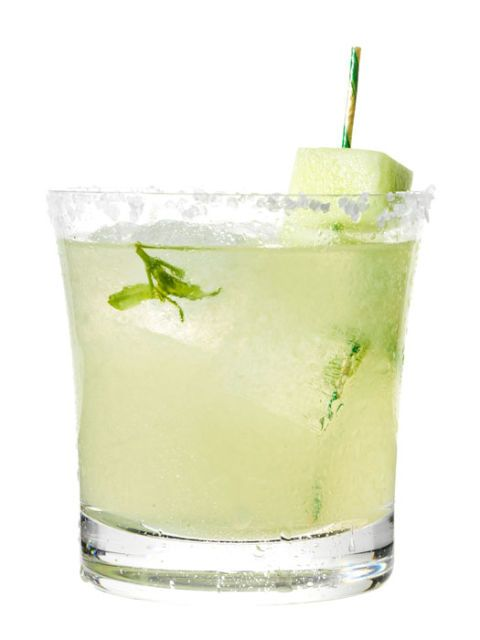 Honeydew-basil margarita