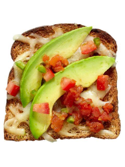 avocado salsa toast