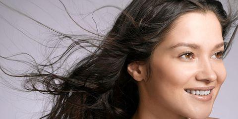 air dried hair